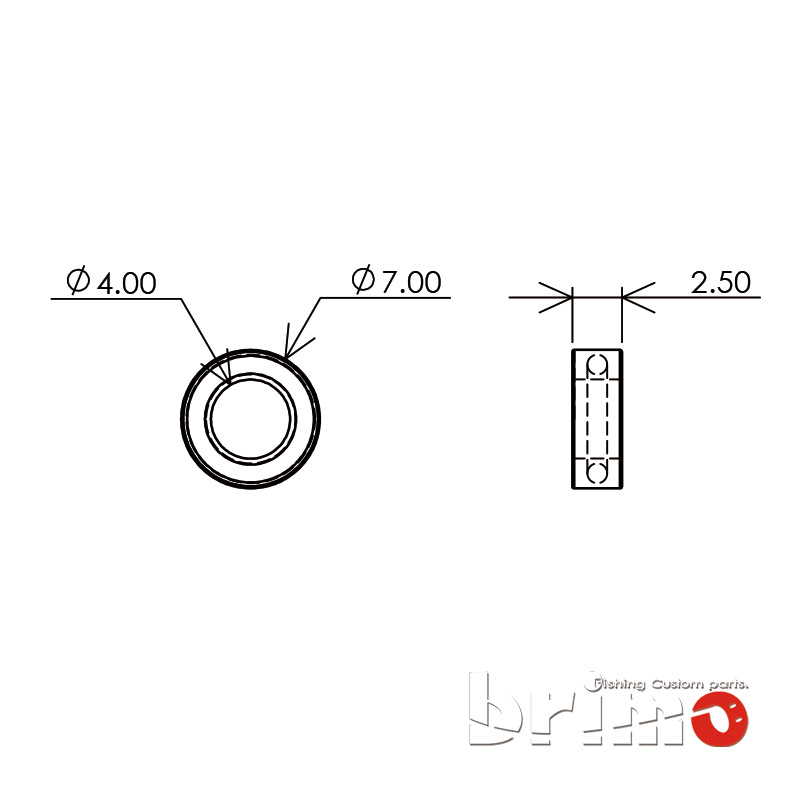 ハンドルノブのベアリングサイズ